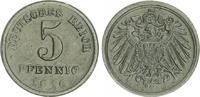 5 Pfennig Kopplung mit 1 Pfennig Rückseite 1916 D Deutschland / Kaiserr... 1450,00 EUR free shipping