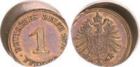 1 Pfennig, 15 % dezentriert 1876A Kaiserreich Kaiserreich 1 Reichs Pfen... 95,00 EUR  +  7,50 EUR shipping