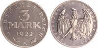 3 Mark 1922 A Deutschland / Weimar / Inflation Inflationszeit 3 Mark Al... 125,00 EUR  +  7,50 EUR shipping