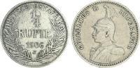 1/4. Rupie 1906 J Kolonien Deutsch-Ostafrika Deutsch-Ostafrika 1/4. Rup... 75,00 EUR  +  7,50 EUR shipping