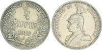 1/4. Rupie 1910 J Kolonien Deutsch-Ostafrika Deutsch-Ostafrika 1/4. Rup... 50,00 EUR  +  7,50 EUR shipping