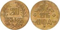 20 Heller 1916T Kolonien Deutsch-Ostafrika DOA 20 Heller J.726 Messing ... 425,00 EUR  +  8,95 EUR shipping