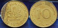 Deutschland 10 Pfennig Fehlprägung BRD 10 Pfennig 1971J  Fehlprägung Plattierungsfehler, ss-vz