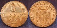 1Pfennig 1827A Altdeutschland / Preußen Preußen 1 Pfennig 1827A, f.prfr... 25,00 EUR