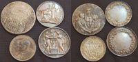 4 Silbermedaillen  Vatikan 4 Silbermedaillen Joh 23/PaulVI, christl. Ho... 50,00 EUR