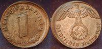1 Pfennig Fehlprägung 1937 E Deutschland / 3.Reich 1 Pfennig Fehlprägun... 95,00 EUR