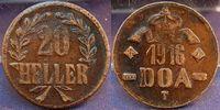 20 Heller Dünnabschlag, Kupferlegierung 1916 Kolonien / Deutsch-Ostafri... 125,00 EUR