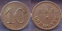 10 Pf. Wertmarke Schiffsgeld SMS Cormoran ca. 1895 Kolonien / China / K... 645,00 EUR