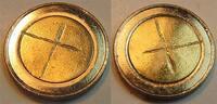 EU Eurorohling mit Randschrift Fehlprägung: unbeprägter 2 Euro Rohling Randschrift 2**2 - mit Kreuz entwertet