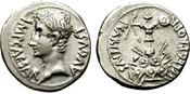 DENARIUS 25-23 B.C. ROME AUGUSTUS. P. CARI...