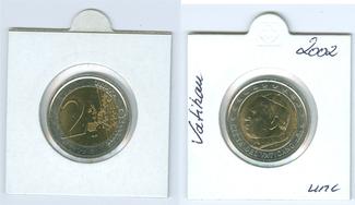 2 Euro 2002 Vatikan Papst Johannes Paul II...