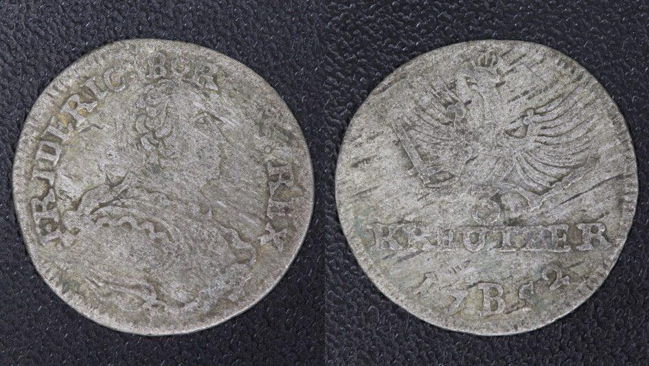 Friedrich d Große (breslau) Preußen 3 Kreuzer 1752 B