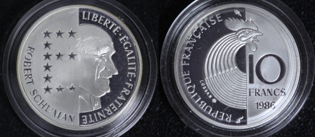 Robert Schuman Frankreich 10 Francs 1986