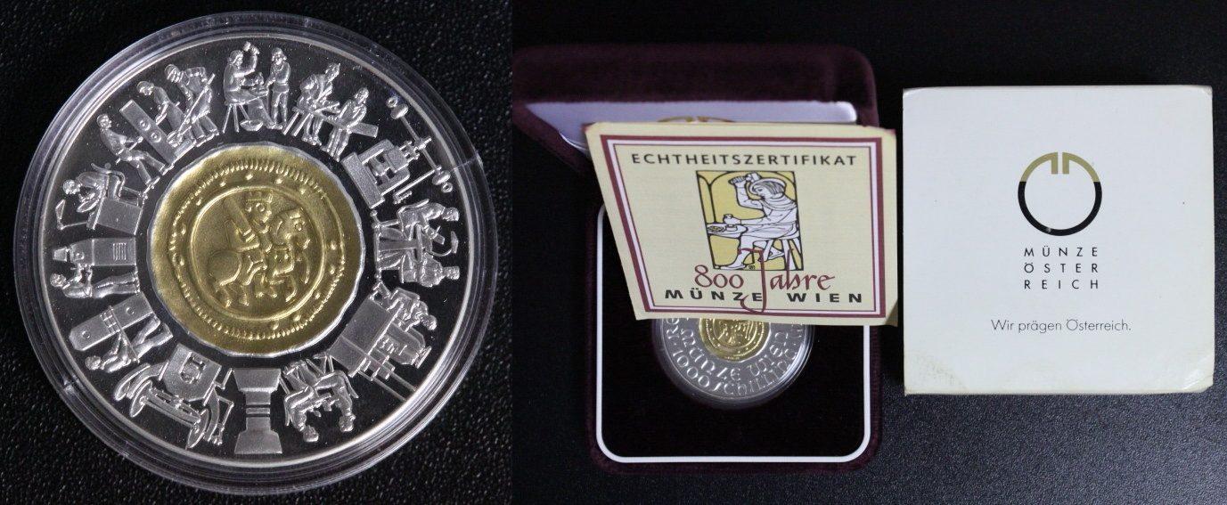 800 Jahre Münze Wien Gold Österreich 1000 Schilling 1994