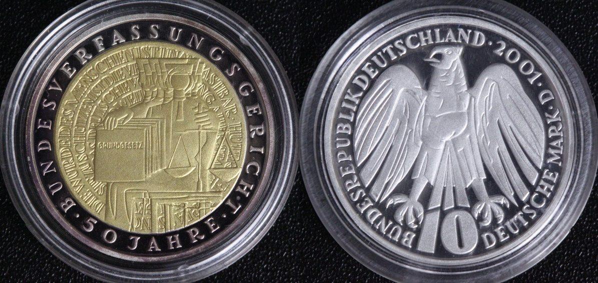 Bundesverfassungsgericht Brd 10 Mark 2001