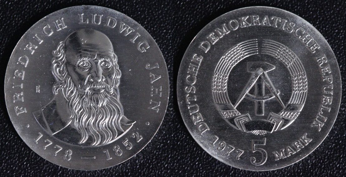 Friedrich Ludwig Jahn Ddr 5 Mark 1977