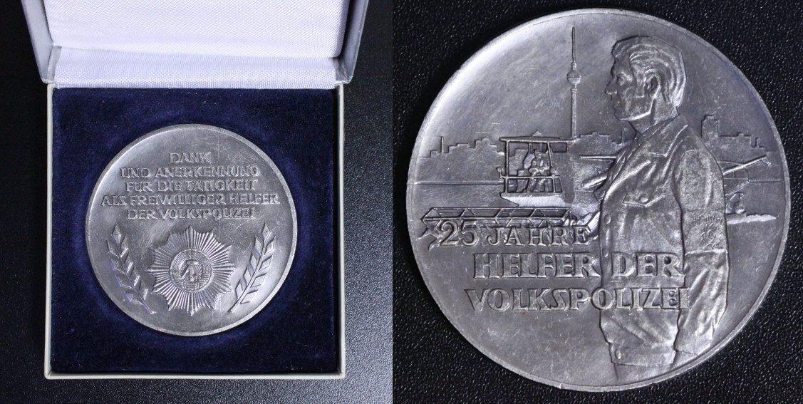 25 Jahre Helfer der Volkspolizei Ddr Medaille o J
