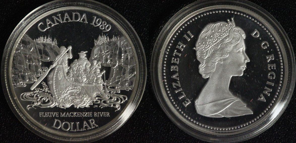 Mackenzie River Kanada 1 Dollar 1989