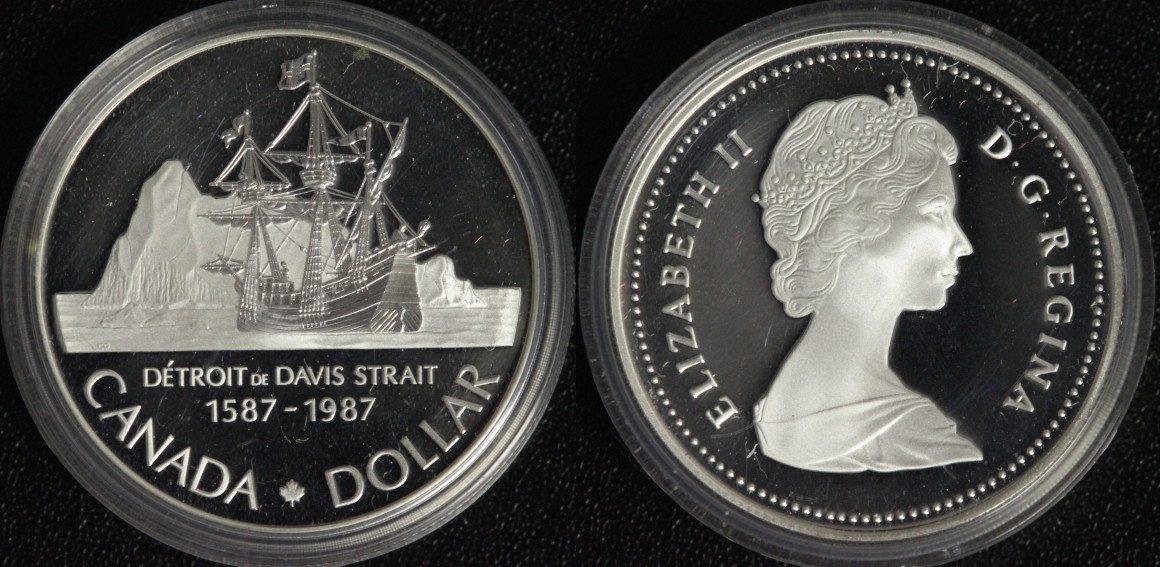 Detroit John Davis Strait Kanada 1 Dollar 1987