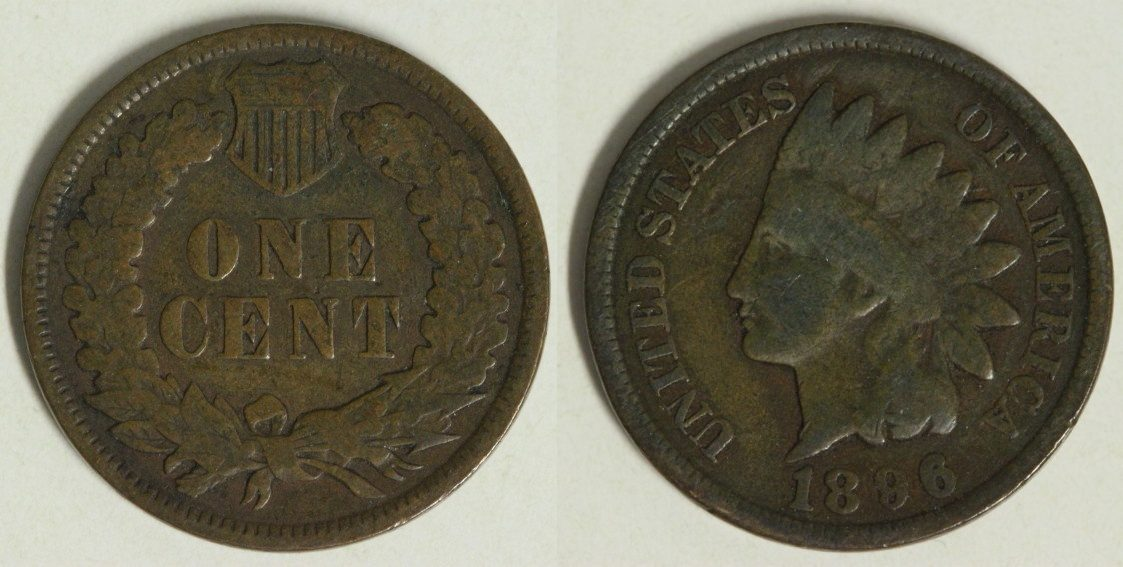 Indian Head Usa 1 Cent 1896