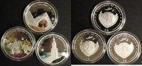 Palau 3x 5$ 3x Farbmünzen