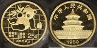 China 25 Yuan, 1/4 Unze China Panda 1989