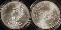 1 Dollar 1997 USA Jackie Robinson st / OVP/ Zert./ Etui  80,00 EUR  zzgl. 5,00 EUR Versand