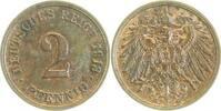 2 Pfennig 1913 G  1913G vz vz  17,00 EUR inkl. gesetzl. MwSt., zzgl. 4,80 EUR Versand
