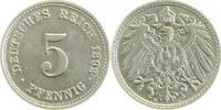 5 Pfennig 1892 D  1892D vz/stgl !!! vz  /  stgl  74,00 EUR inkl. gesetzl. MwSt., zzgl. 4,80 EUR Versand