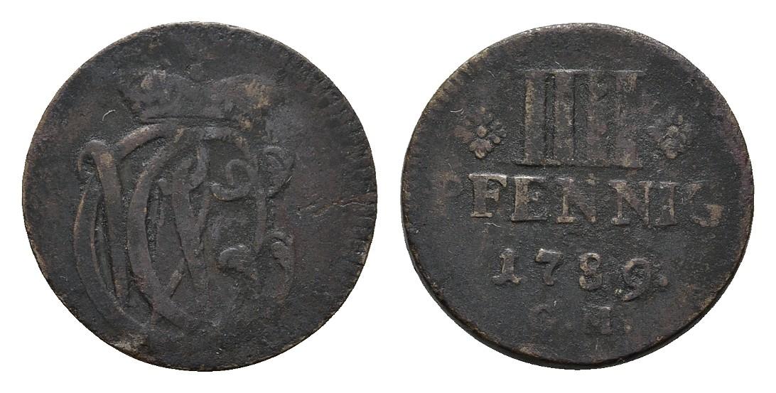 Clemens Wenzel von Sachsen, 1768-1794 Trier Iiii Pfennig 1789