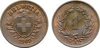 Ku.-Rappen 1909, B. SCHWEIZ  Fleck. Fast Stempelglanz.  40,00 EUR  zzgl. 4,50 EUR Versand