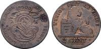 Ku.-2 Centimes 1846. BELGIEN Leopold I., 1830-1865. Sehr schön-vorzügli... 12,00 EUR  zzgl. 4,50 EUR Versand