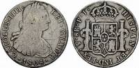 8 Reales 1808. BOLIVIEN Carlos III., 1759-1788. Kleine Dellen im Feld, ... 85,00 EUR  zzgl. 4,50 EUR Versand