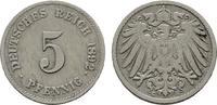 5 Pfennig 1892, G. Deutsches Reich  Sehr schön.  20,00 EUR  zzgl. 4,50 EUR Versand