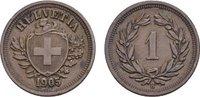Rappen 1905, B. SCHWEIZ  Vorzüglich +  18,00 EUR  zzgl. 4,50 EUR Versand