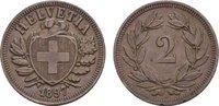 Ku.-2 Rappen 1897, B. SCHWEIZ  Vorzüglich +  60,00 EUR  zzgl. 4,50 EUR Versand