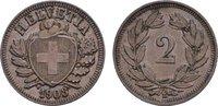 Ku.-2 Rappen 1908, B. SCHWEIZ  Vorzüglich +  20,00 EUR  zzgl. 4,50 EUR Versand
