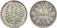 1 Mark 1874, A. Deutsches Reich  Vorzüglich.  35,00 EUR  zzgl. 4,50 EUR Versand