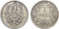 1 Mark 1875, A. Deutsches Reich  Vorzüglich.  40,00 EUR  zzgl. 4,50 EUR Versand