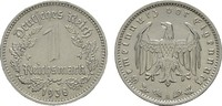 1 Reichsmark 1938, A. DRITTES REICH  Fast Stempelglanz.  35,00 EUR  zzgl. 4,50 EUR Versand