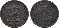 1/2 Penny 1854. KANADA  Sehr schön +.  20,00 EUR  zzgl. 4,50 EUR Versand
