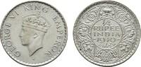1/4 Rupee 1940. INDIEN George VI., 1936-1947. Vorzüglich.  29,00 EUR