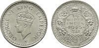 1/4 Rupee 1943. INDIEN George VI., 1936-1947. Vorzüglich-stempelglanz.  29,00 EUR