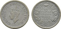 1/4 Rupee 1943. INDIEN George VI., 1936-1947. Sehr schön.  10,00 EUR