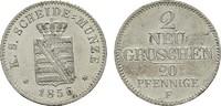 2 Neugroschen (20 Pfennige) 1856 F. SACHSEN Johann, 1854-1873. Stempelg... 95,00 EUR  zzgl. 4,50 EUR Versand