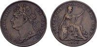 Farthing 1825. GROSSBRITANNIEN George IV, 1820-1830. Randstab-Druckstel... 75,00 EUR  zzgl. 4,50 EUR Versand