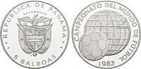 5 Balboas 1982. PANAMA Republik. Polierte Platte.  20,00 EUR