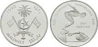 250 Rufiyaa 1990. MALEDIVEN Republik. Polierte Platte.  20,00 EUR  zzgl. 4,50 EUR Versand