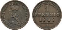 Ku.-Pfennig 1868, A. REUSS Heinrich XXII., 1859-1902. Sehr schön +.  15,00 EUR