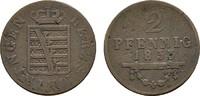 Ku.-2 Pfennig 1833. SACHSEN Bernhard Erich Freund, 1803-1866. Sehr schö... 17,00 EUR
